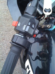 Thumb throttle used to dial regenerative braking from 90 to 100%