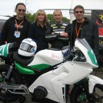 Electric Motorsport / Team Native with the TTXGP Open class winning bike.
