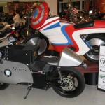 Norton Electra Next to Captain America bike