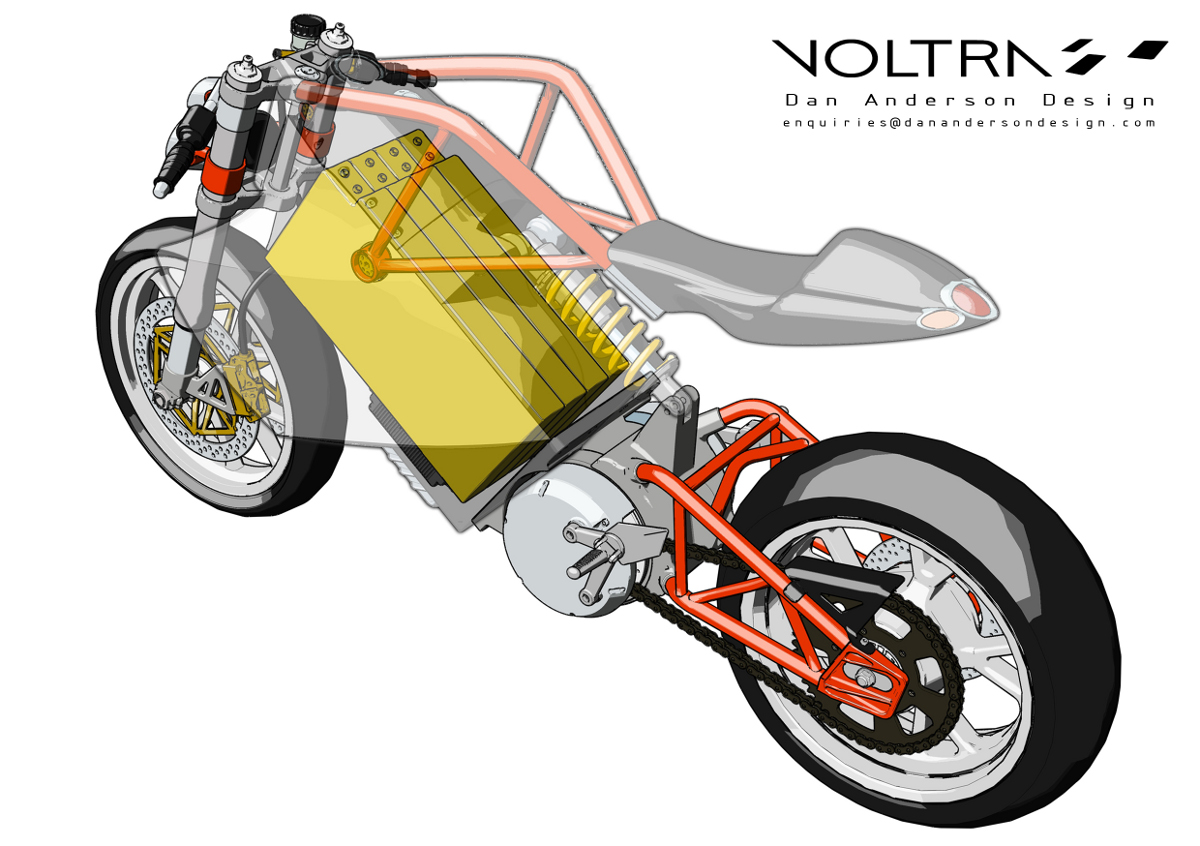 Voltra Electric Motorcycle Concept Look Ma No Tank