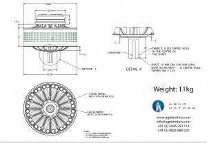 Agni DC Electric Motor Dimensions