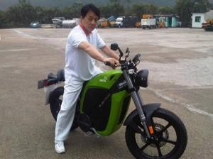 Jackie Chan On Brammo Enertia