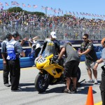 SWIGZ.com team collecting data from their AMA Supersport bike